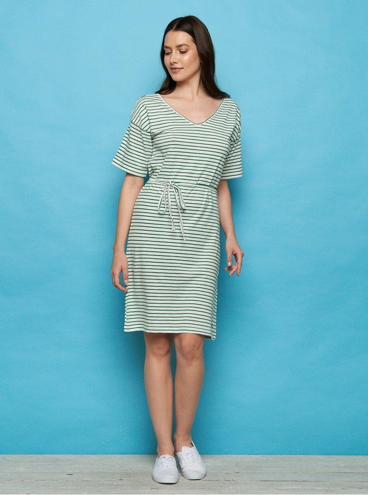 Zeleno-bílé pruhované šaty Tranquillo
