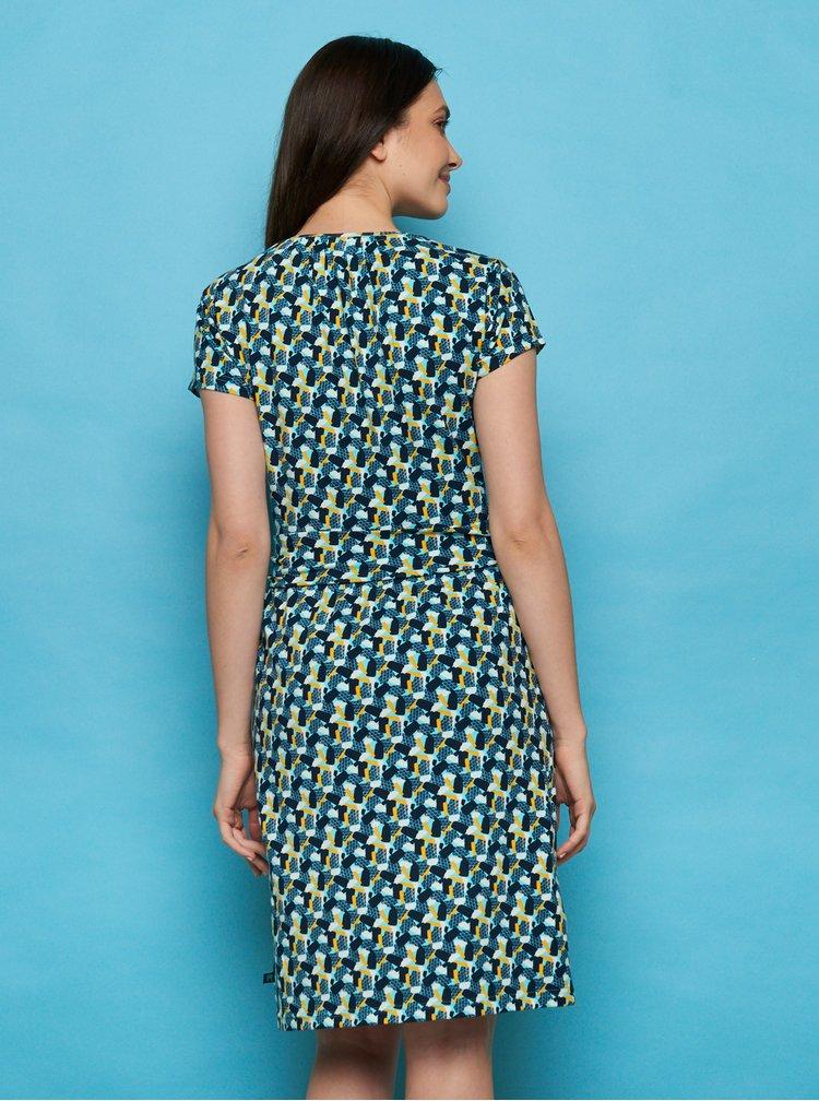 Tmavomodré vzorované šaty Tranquillo Loretta