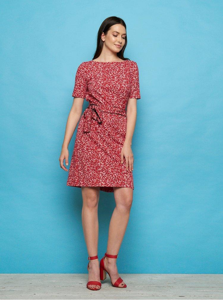 Červené květované šaty Tranquillo Enu