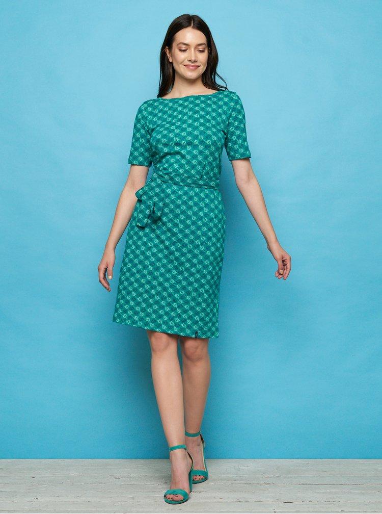 Tyrkysové vzorované šaty Tranquillo Enu