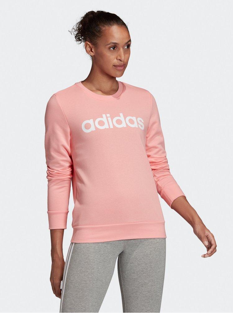 Ružová dámska mikina adidas CORE