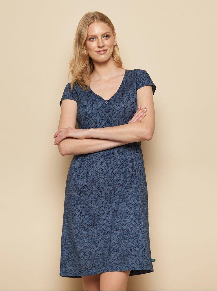 Tmavě modré vzorované šaty Tranquillo Zolile