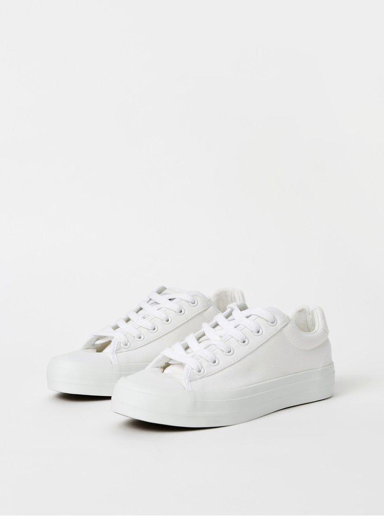 Biele tenisky na platforme Selected Femme Simone