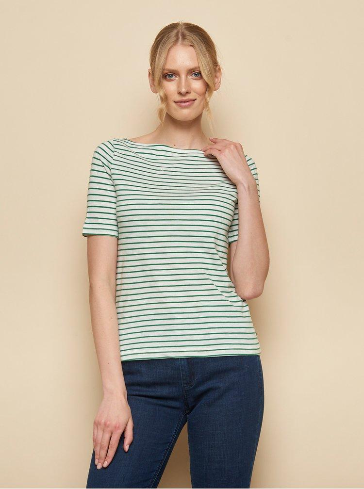 Zeleno-bílé pruhované tričko Tranquillo Aja