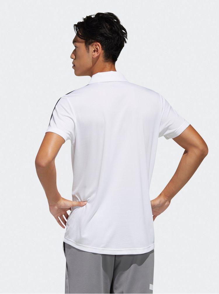 Bílé pánské polo tričko adidas CORE