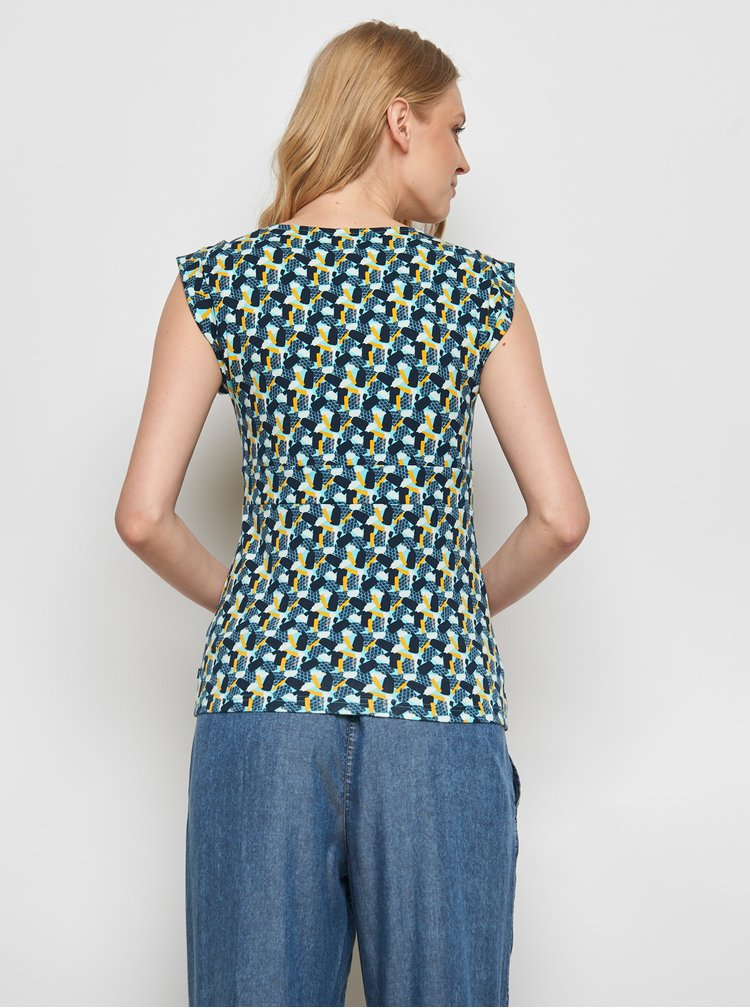 Tmavě modré vzorované tričko Tranquillo Kalisha