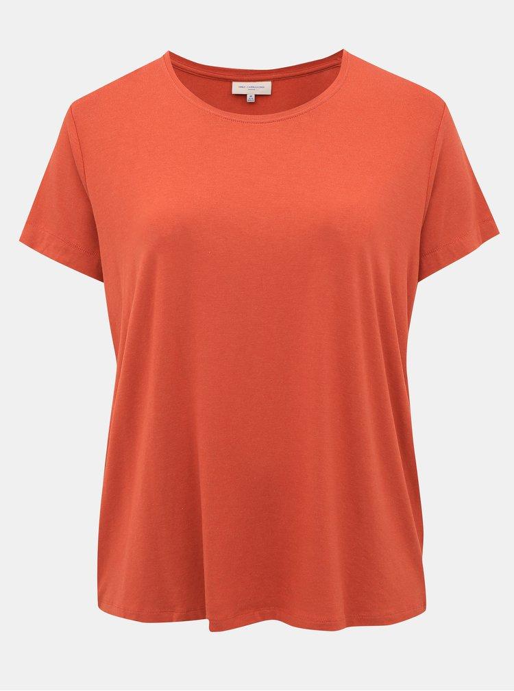 Cihlové basic tričko ONLY CARMAKOMA Carmakoma