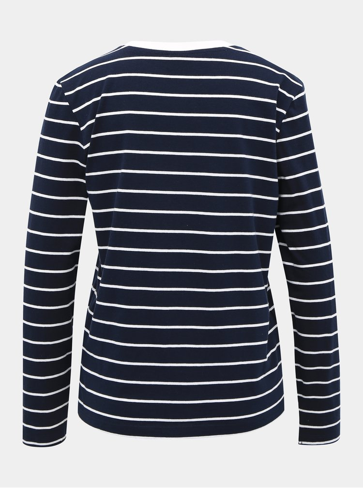 Tmavomodré pruhované basic tričko Jacqueline de Yong Best Life