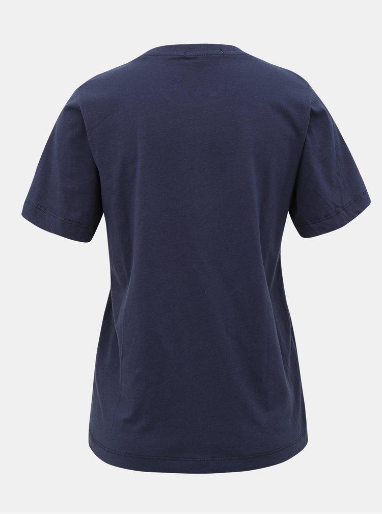 Tmavě modré dámské tričko s flitry Pepe Jeans Charis