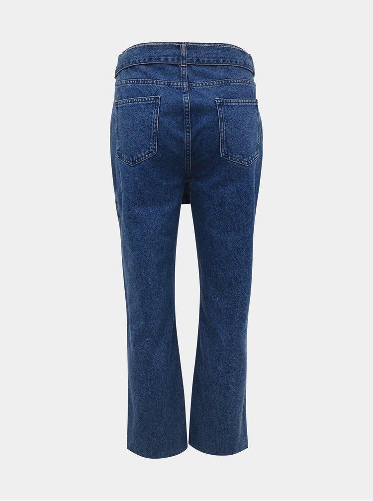 Modré zkrácené straight fit džíny M&Co