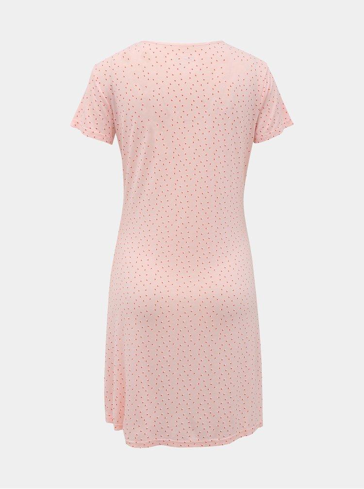 Ružová bodkovaná nočná košeľa M&Co