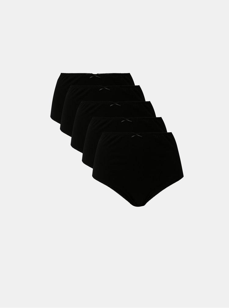 Sada pěti černých kalhotek M&Co