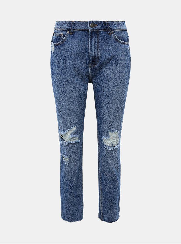 Modré straight fit džíny ONLY Emily