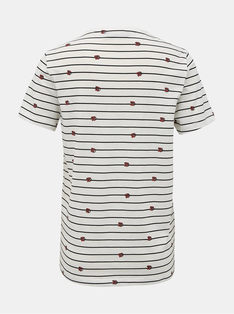 Bílé pruhované tričko ONLY Babara