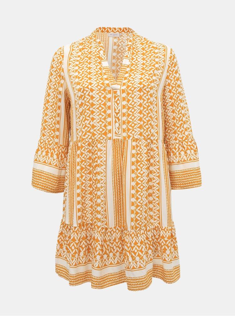 Marimi curvy pentru femei ONLY CARMAKOMA - galben, alb