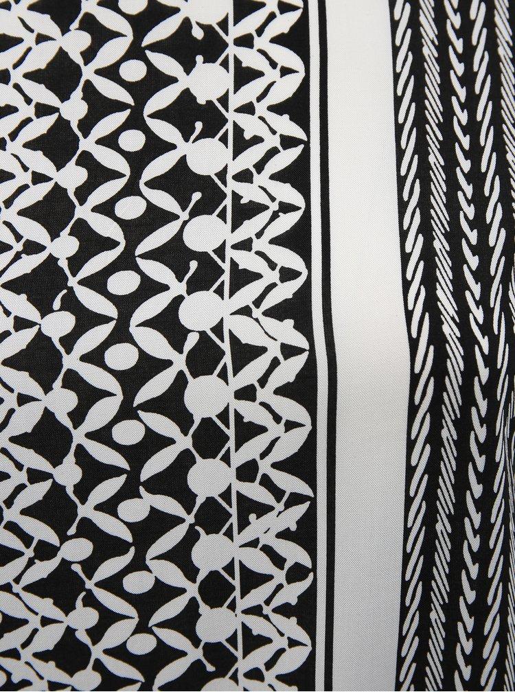 Bílo-černá vzorovaná halenka ONLY CARMAKOMA