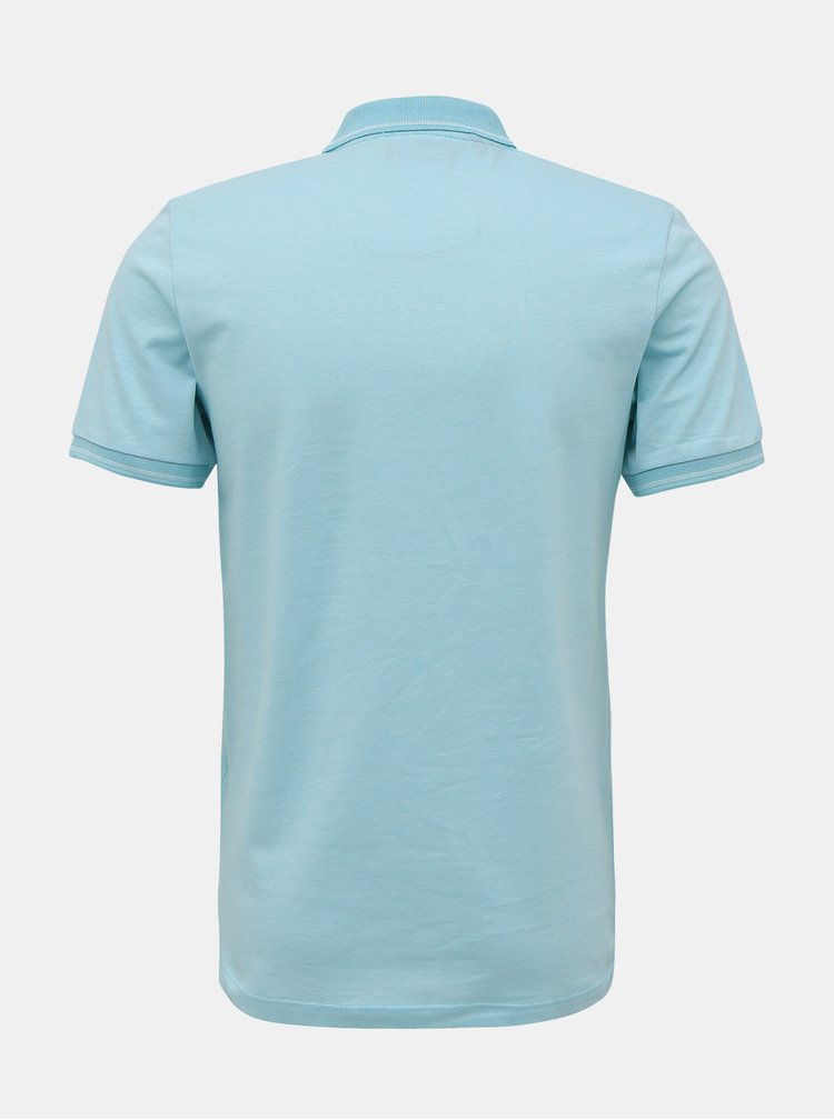 Tricouri polo pentru barbati Selected Homme - verde deschis
