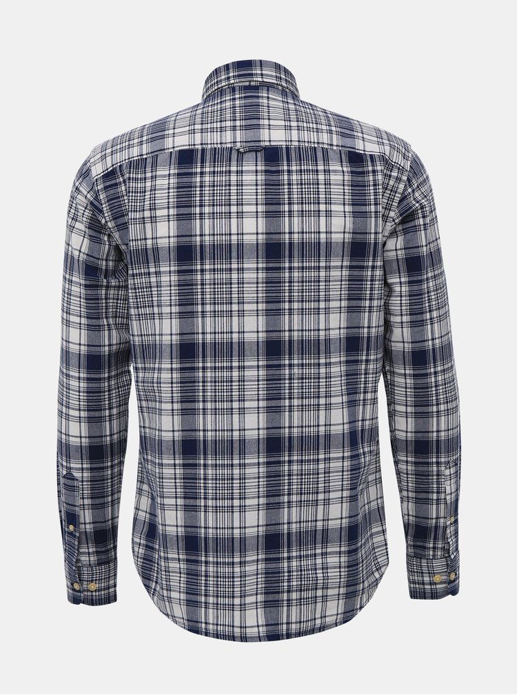 Modrá kostkovaná slim fit košile Selected Homme Carl