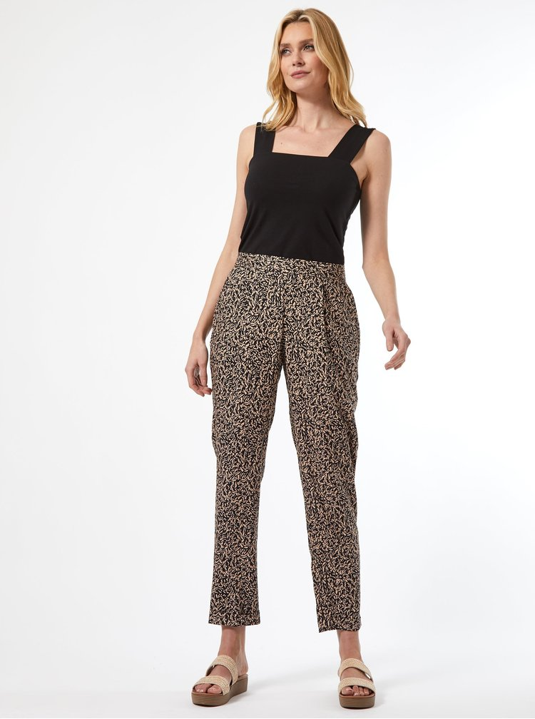 Béžové vzorované kalhoty Dorothy Perkins