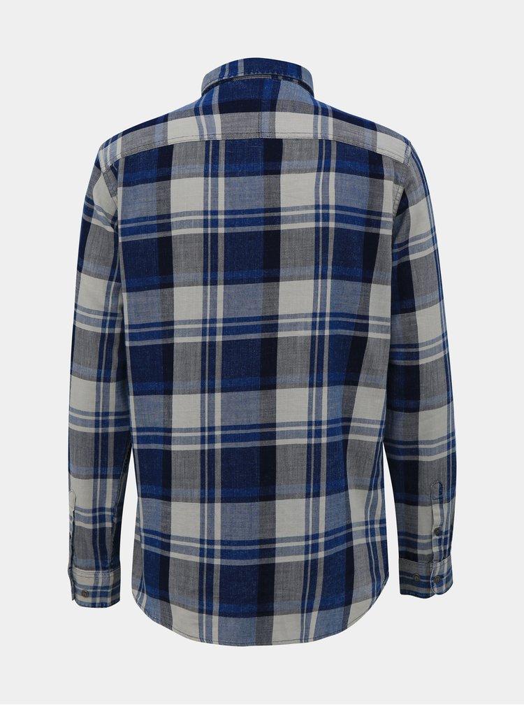 Šedo-modrá kostkovaná košile ONLY & SONS Say
