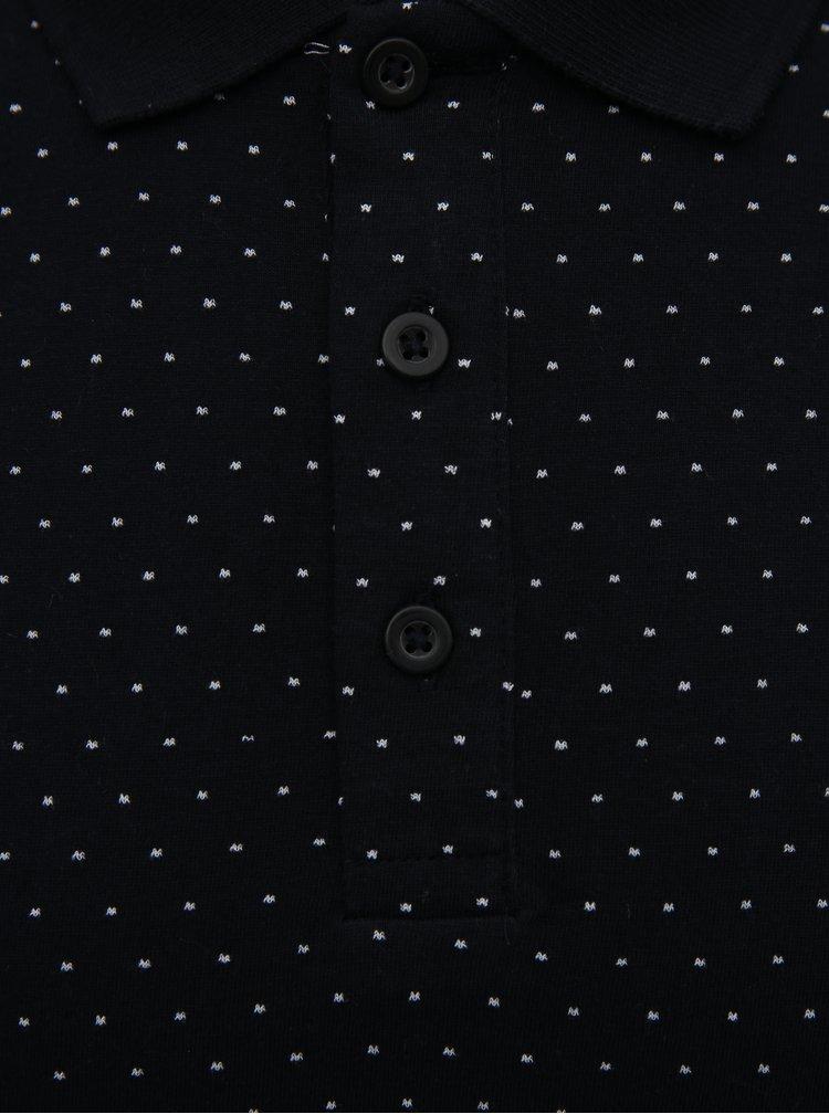 Černé vzorované polo tričko ONLY & SONS Keen