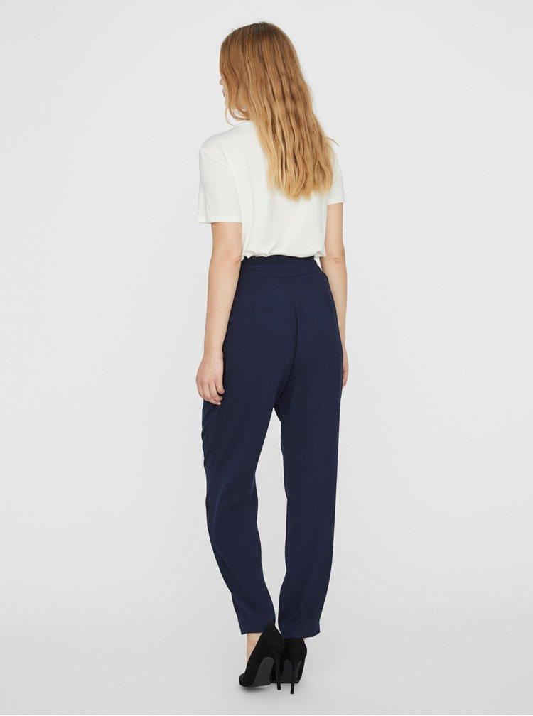 Pantaloni chino pentru femei VERO MODA - albastru inchis