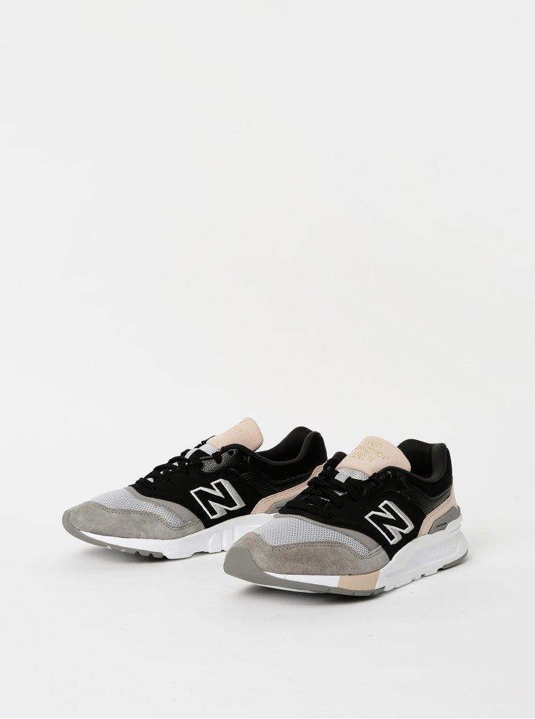 Šedo-černé dámské semišové tenisky New Balance 997H