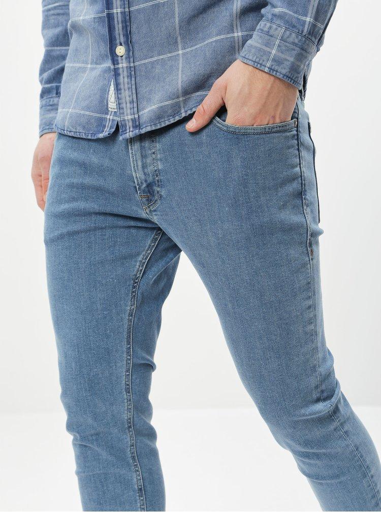 Modré skinny fit džíny Jack & Jones Liam