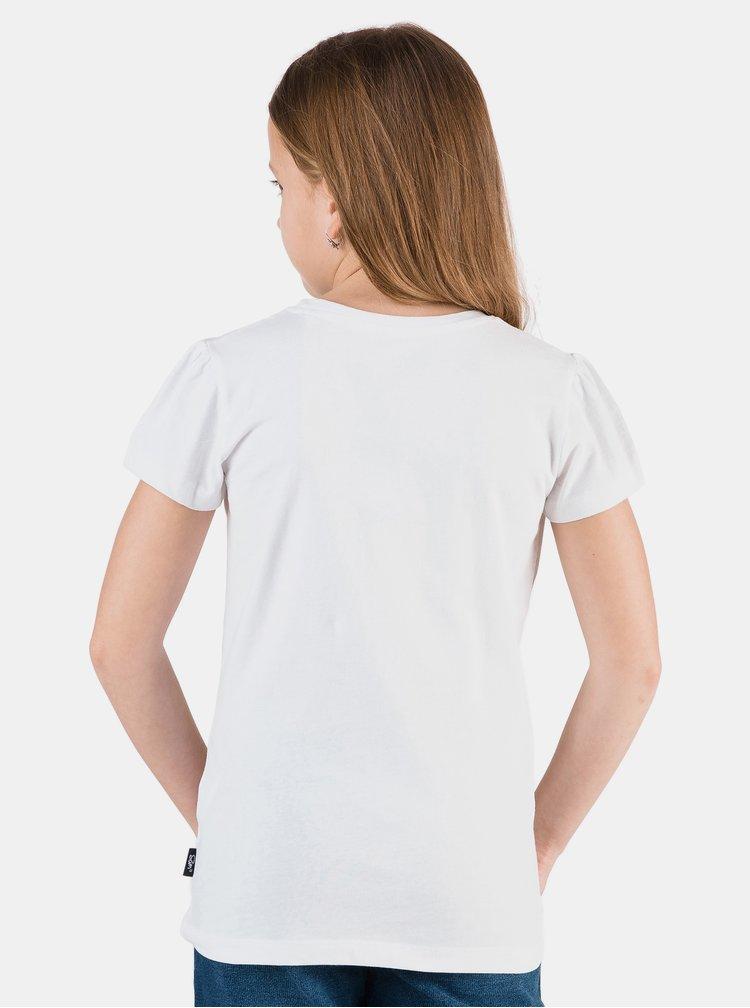 Bílé holčičí tričko s potiskem SAM 73 Aldiaro