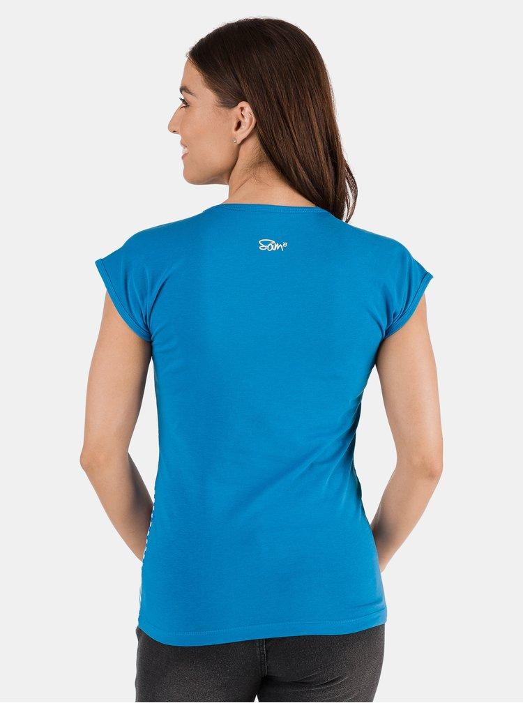 Modré dámské pruhované tričko SAM 73 Jonna