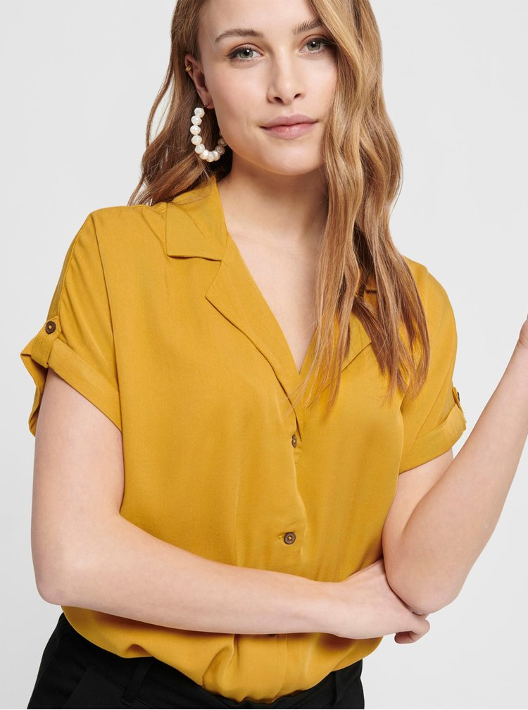Žltá blúzka Jacqueline de Yong Skylar