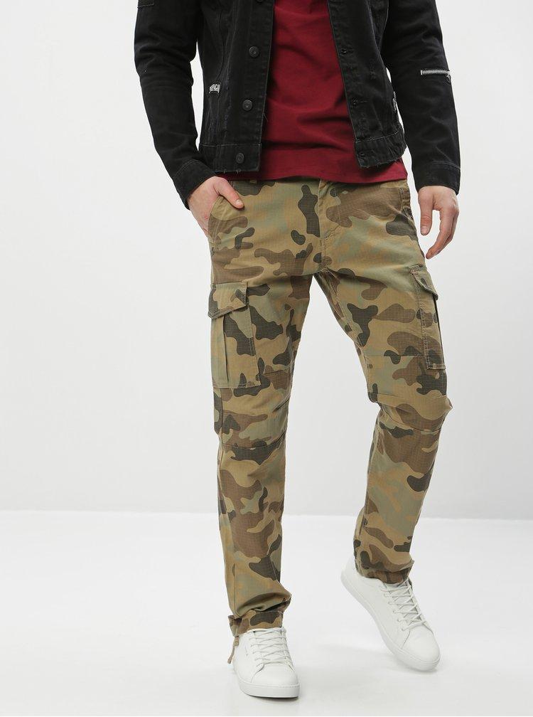 Khaki maskáčové kalhoty Jack & Jones Rob