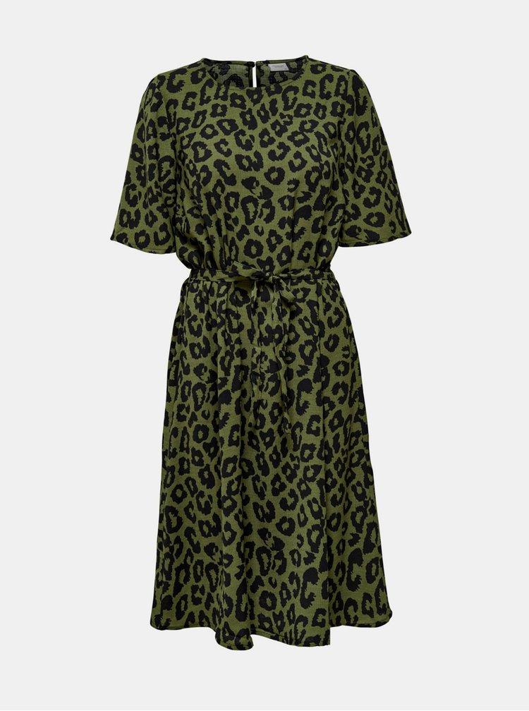 Zelené šaty s leopardím vzorem Jacqueline de Yong Seda