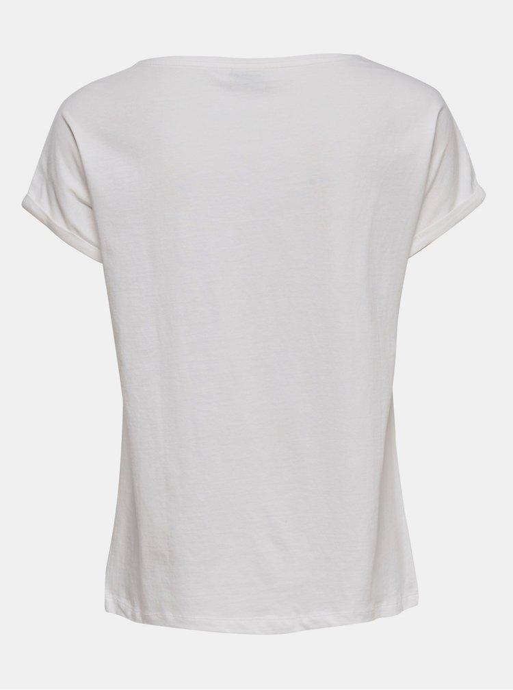 Biele tričko s potlačou Jacqueline de Yong Alana