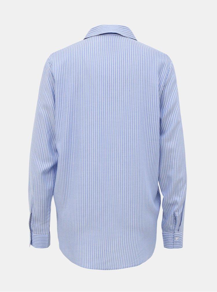 Světle modrá pruhovaná košile Jacqueline de Yong Tom
