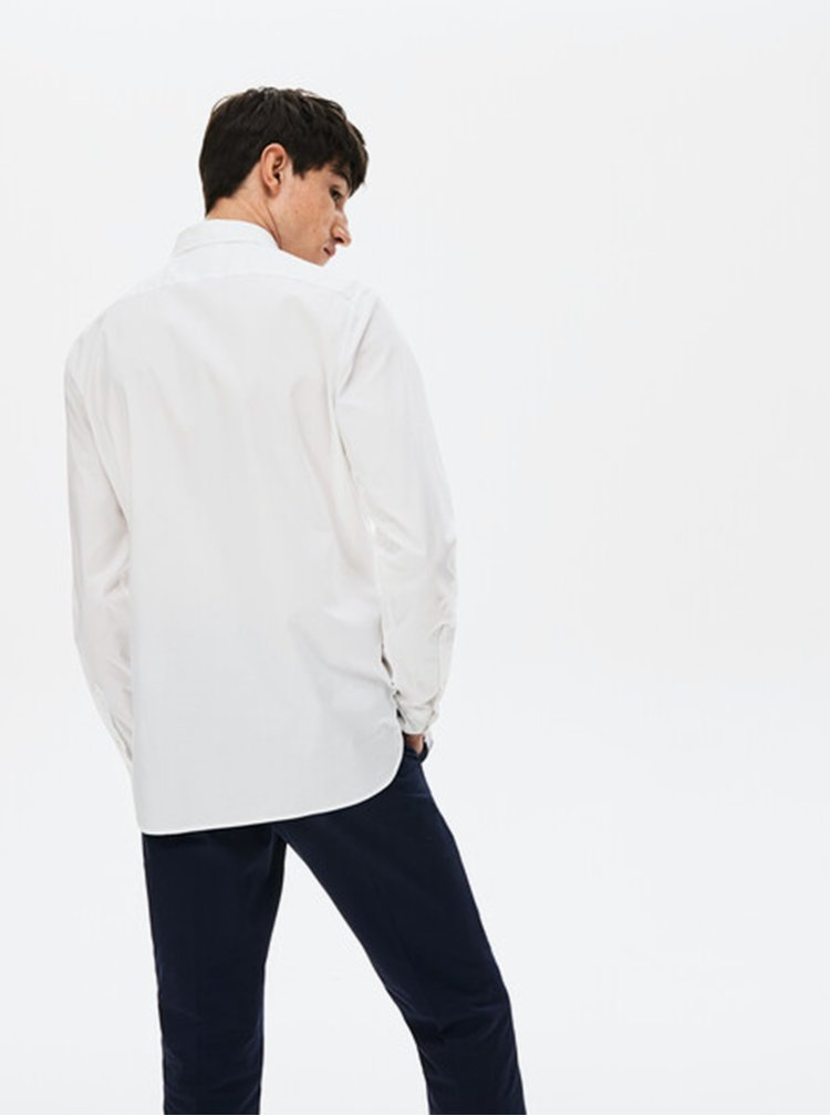 Bílá pánská slim fit košile Lacoste