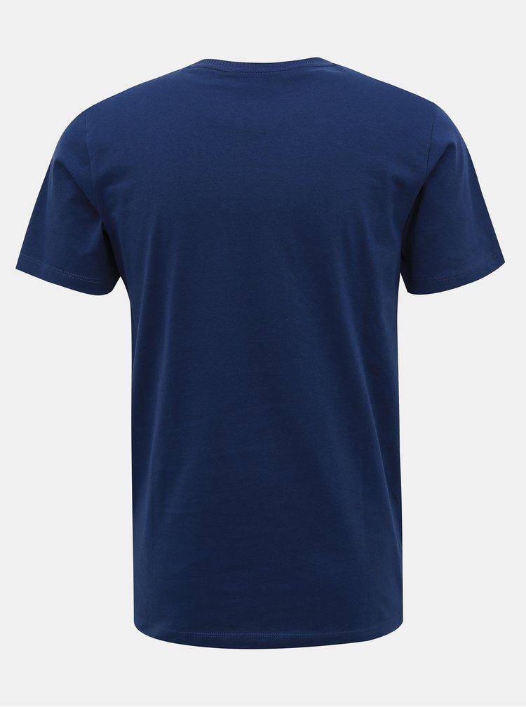 Tmavomodré tričko s potlačou Jack & Jones Brody