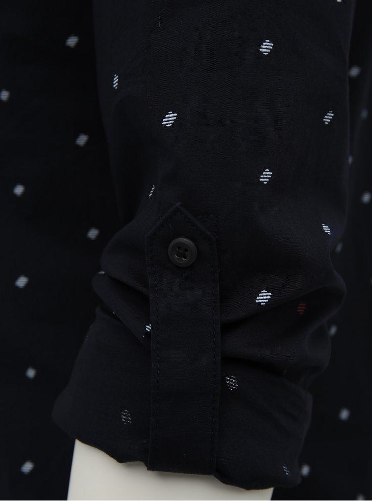 Tmavomodrá vzorovaná košeľa Jack & Jones Carlo