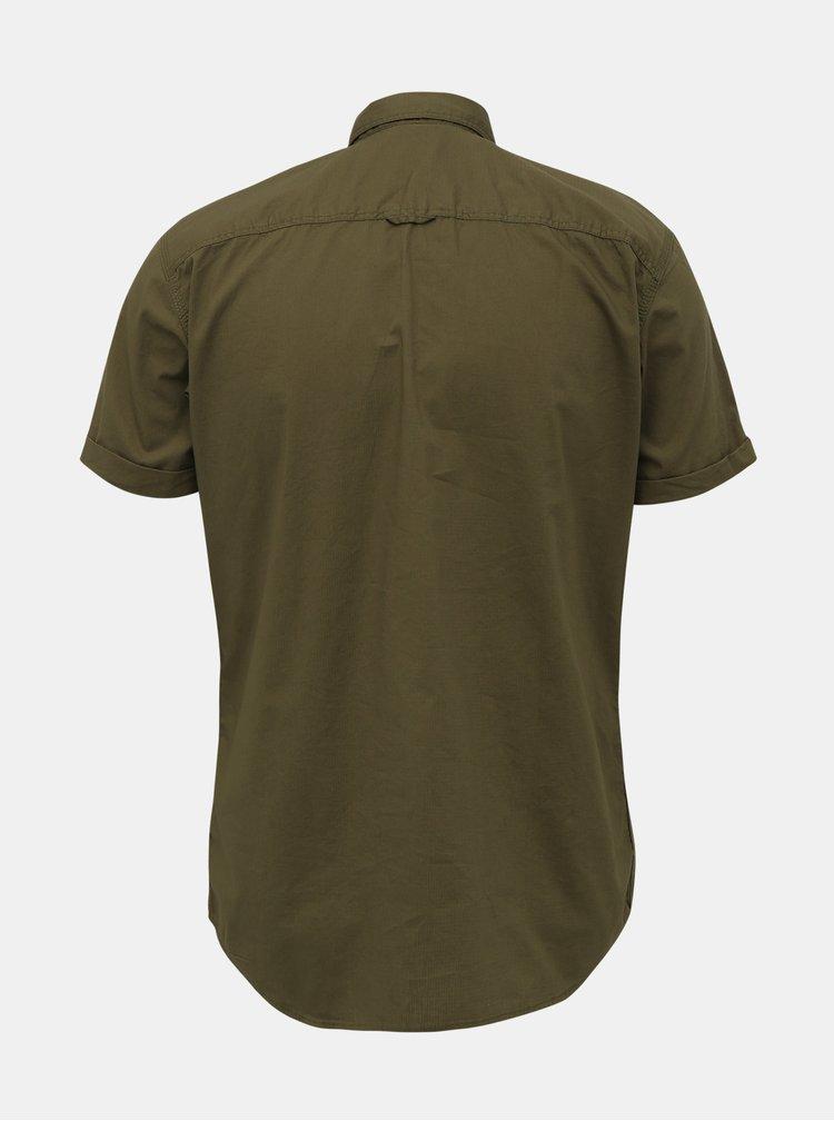 Khaki slim fit košile Jack & Jones Marc