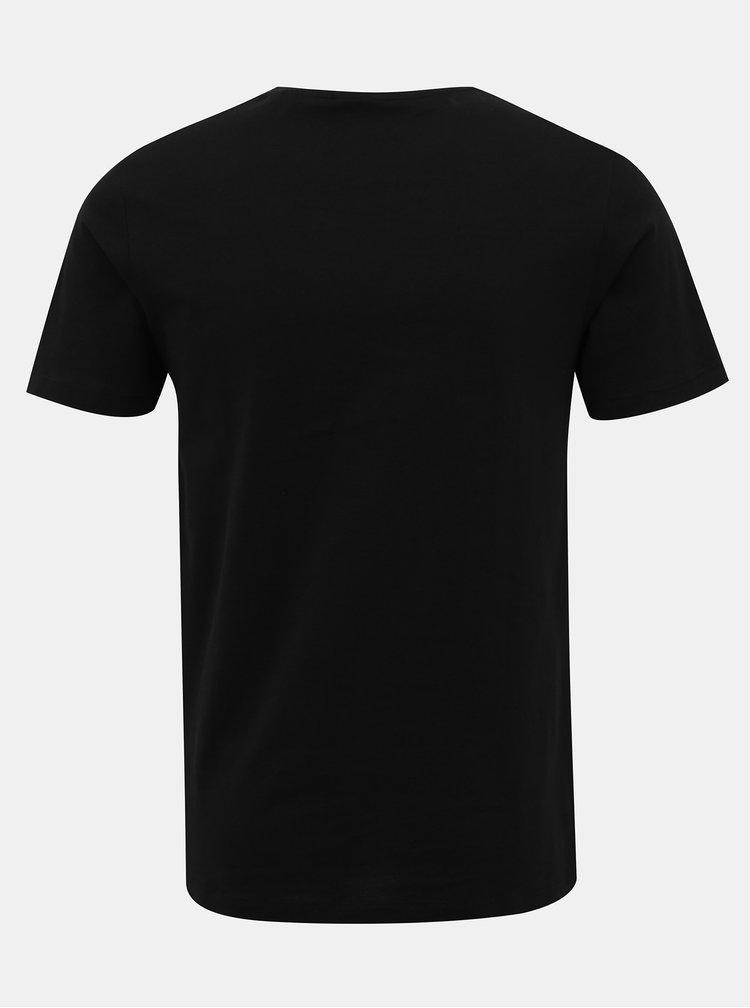 Černé tričko s potiskem Jack & Jones Ifter