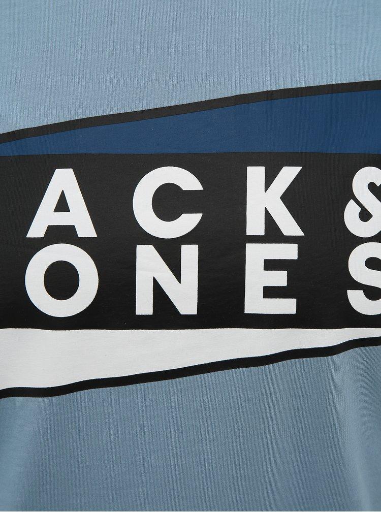 Světle modré tričko s potiskem Jack & Jones Shaun