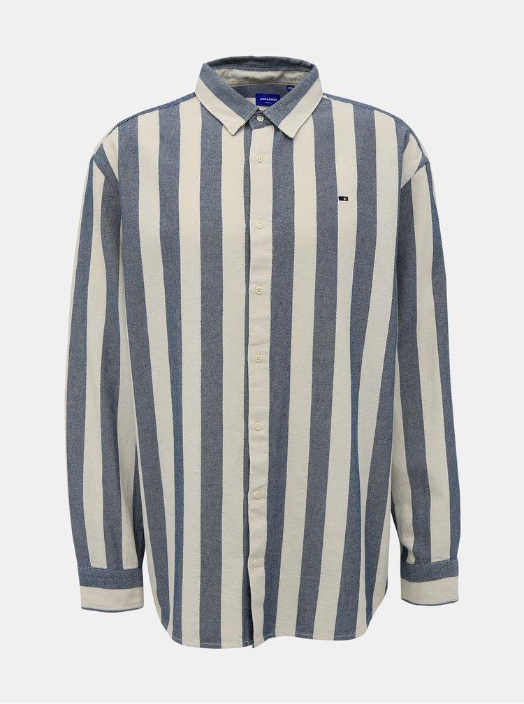 Šedo-bílá pruhovaná košile Jack & Jones Break