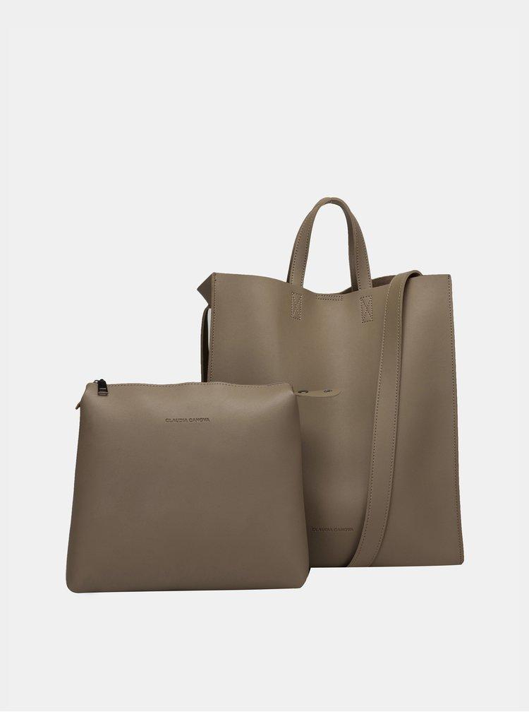 Béžová kabelka s odnímatelným pouzdrem Claudia Canova Retta