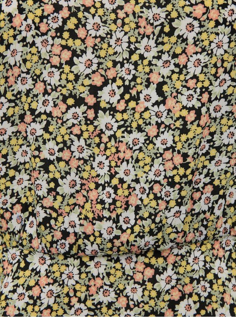 Svetlozelená kvetovaná blúzka Miss Selfridge Daisy