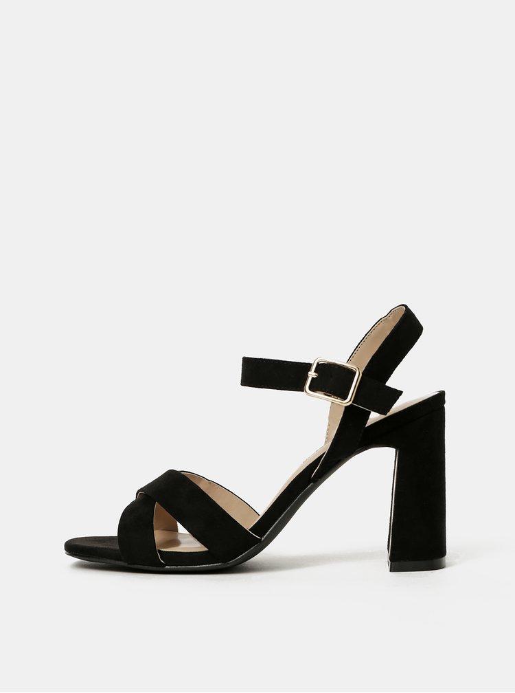 Černé sandálky v semišové úpravě Dorothy Perkins