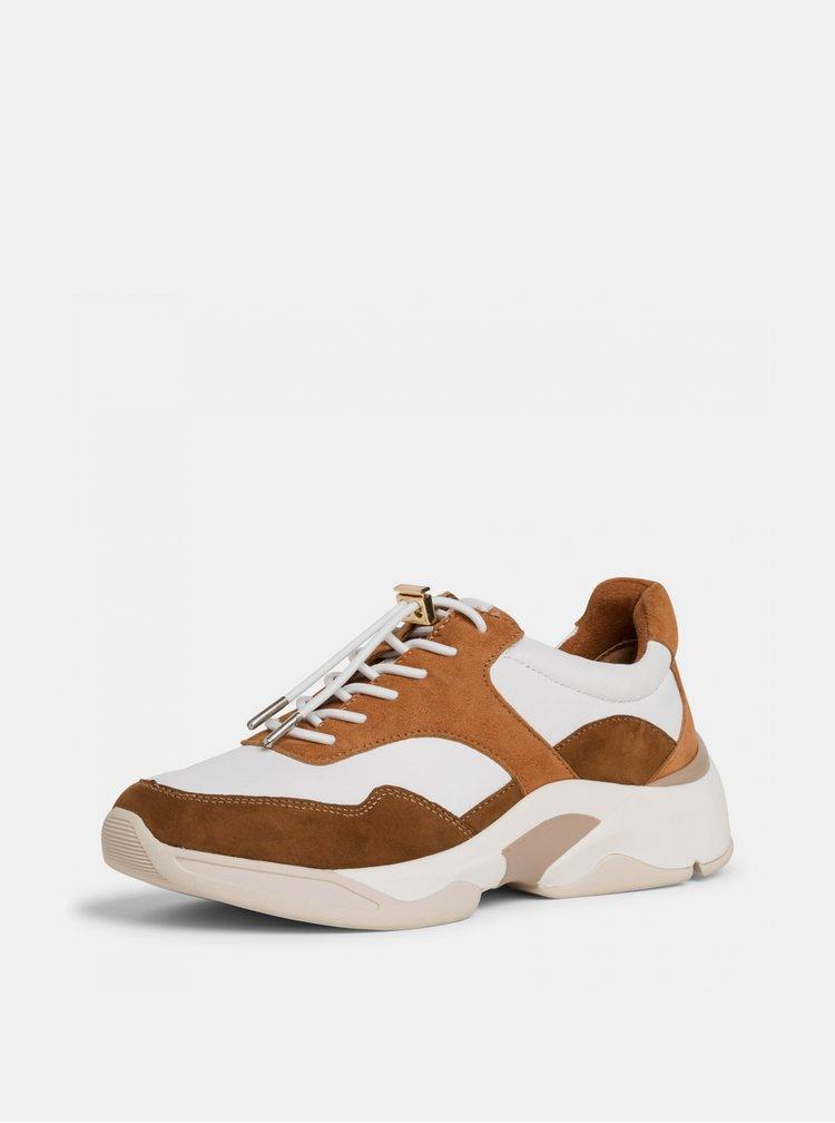 Pantofi sport si tenisi pentru femei Tamaris - maro, bej