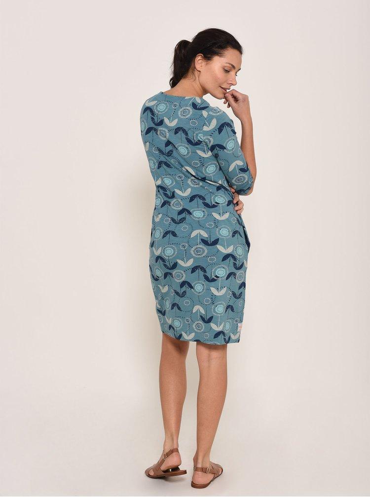Modré květované šaty Brakeburn