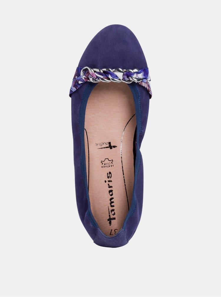 Balerini, mocasini pentru femei Tamaris - albastru inchis
