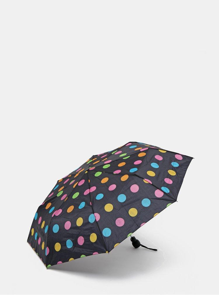 Černý puntíkovaný vystřelovací deštník Rainy Days
