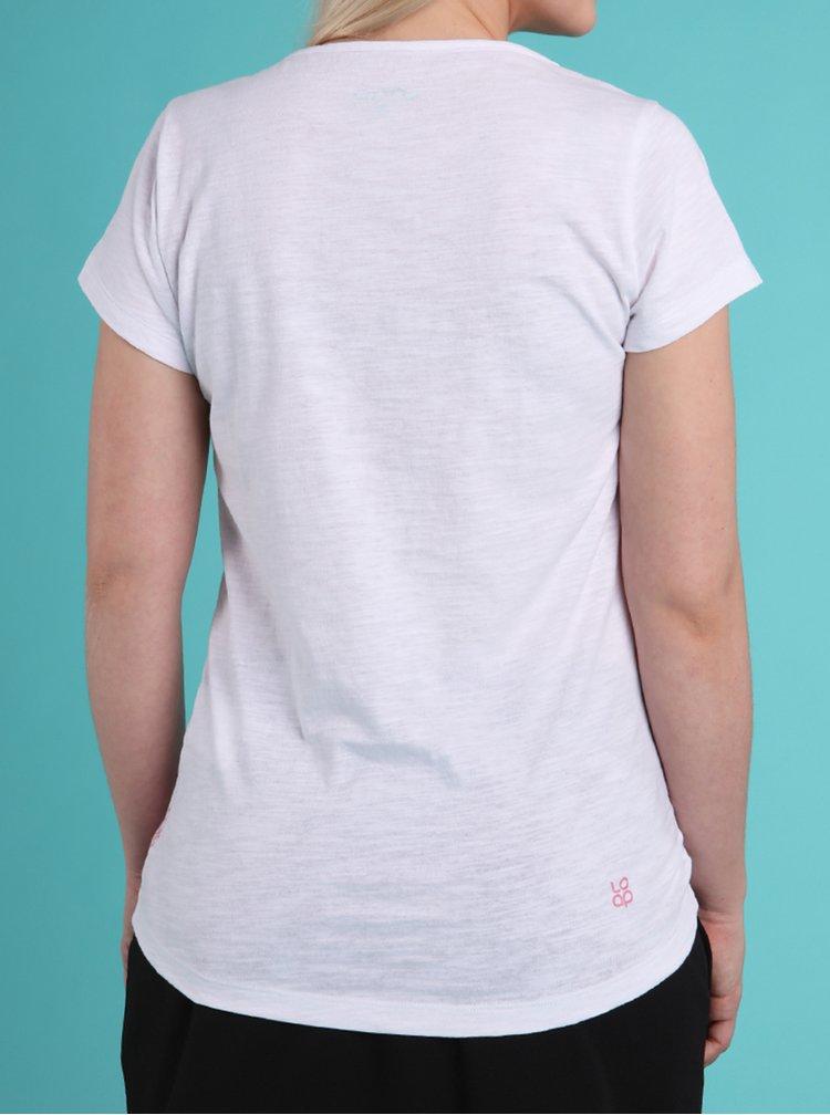 Biele dámske tričko LOAP Blackie